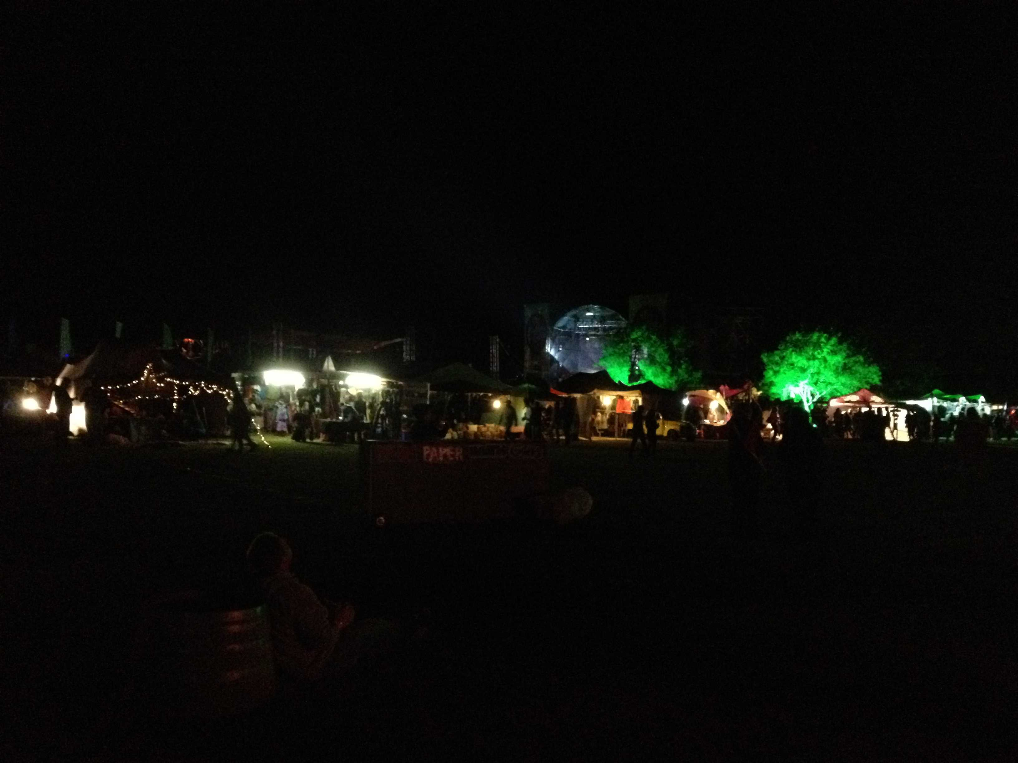Rocking the Daisies Overview By Night