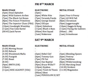 Ramfest Line Up 2013