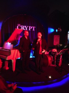 Paster blessing The Crypt