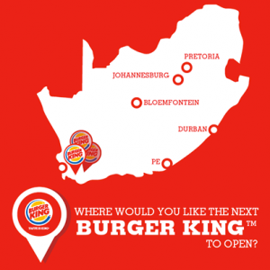Burger King SA Map