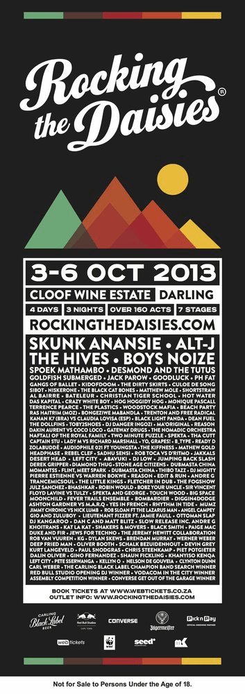 Rocking the Daisies 2013 Line Up