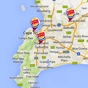 Burger King Western Cape Restaurant Locations