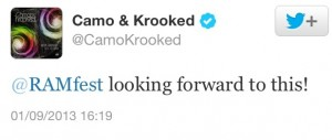 Camo and Krooked Ramfest 2014 Tweet