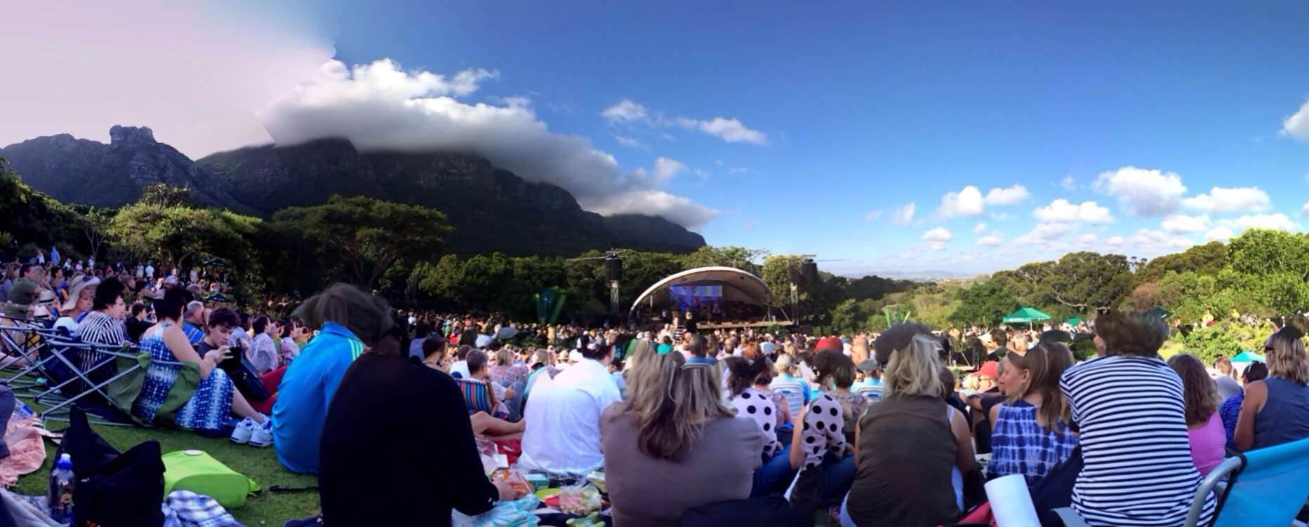 People sitting at garden concert