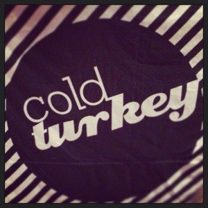 Banner with Cold Turkey Text