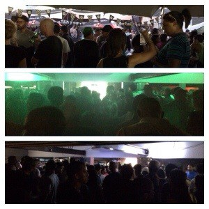 People at Indoor Party with different lighting
