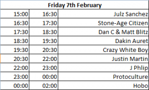 CTEMF Friday Line UP