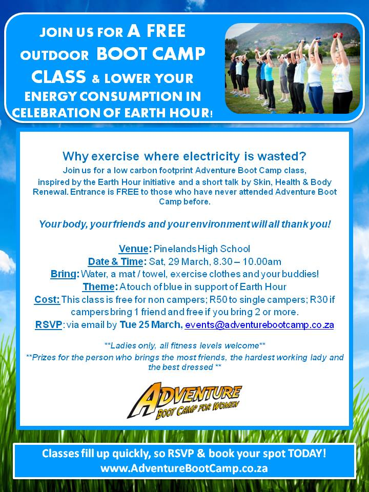 Adventure Boot Camp Earth Hour Poster