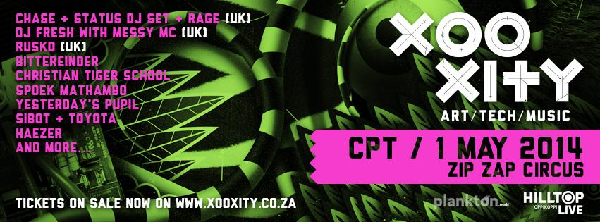 XOOXITY Line Up CONFIRMED! Chase & Status, Rusko & DJ Fresh LIVE in