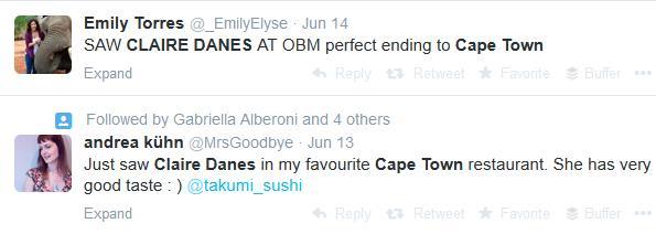 Claire Danes Tweets