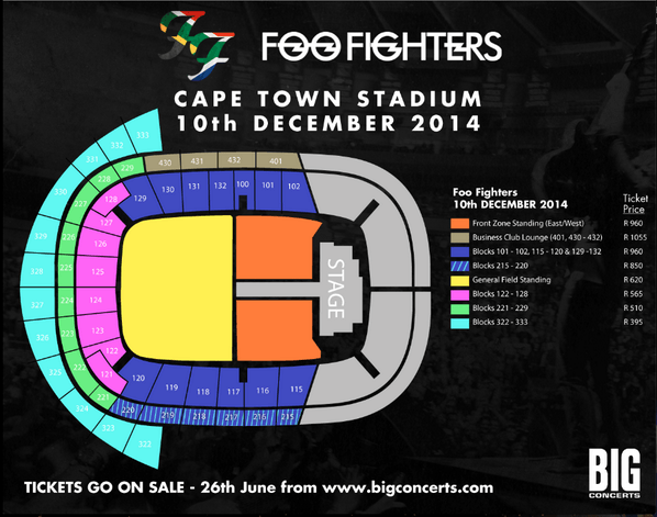 Foo Fighters Map