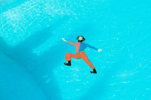 Thor Rixon in a swimming pool
