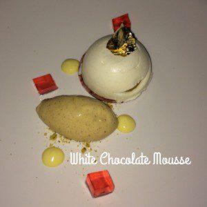 Azure White mousse dessert