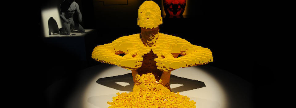 Yellow - one of the most recognised artworks in The Art of the Brick collection