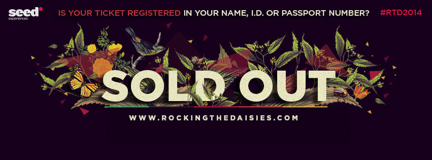 Rocking the Daisies Sold Out 2014
