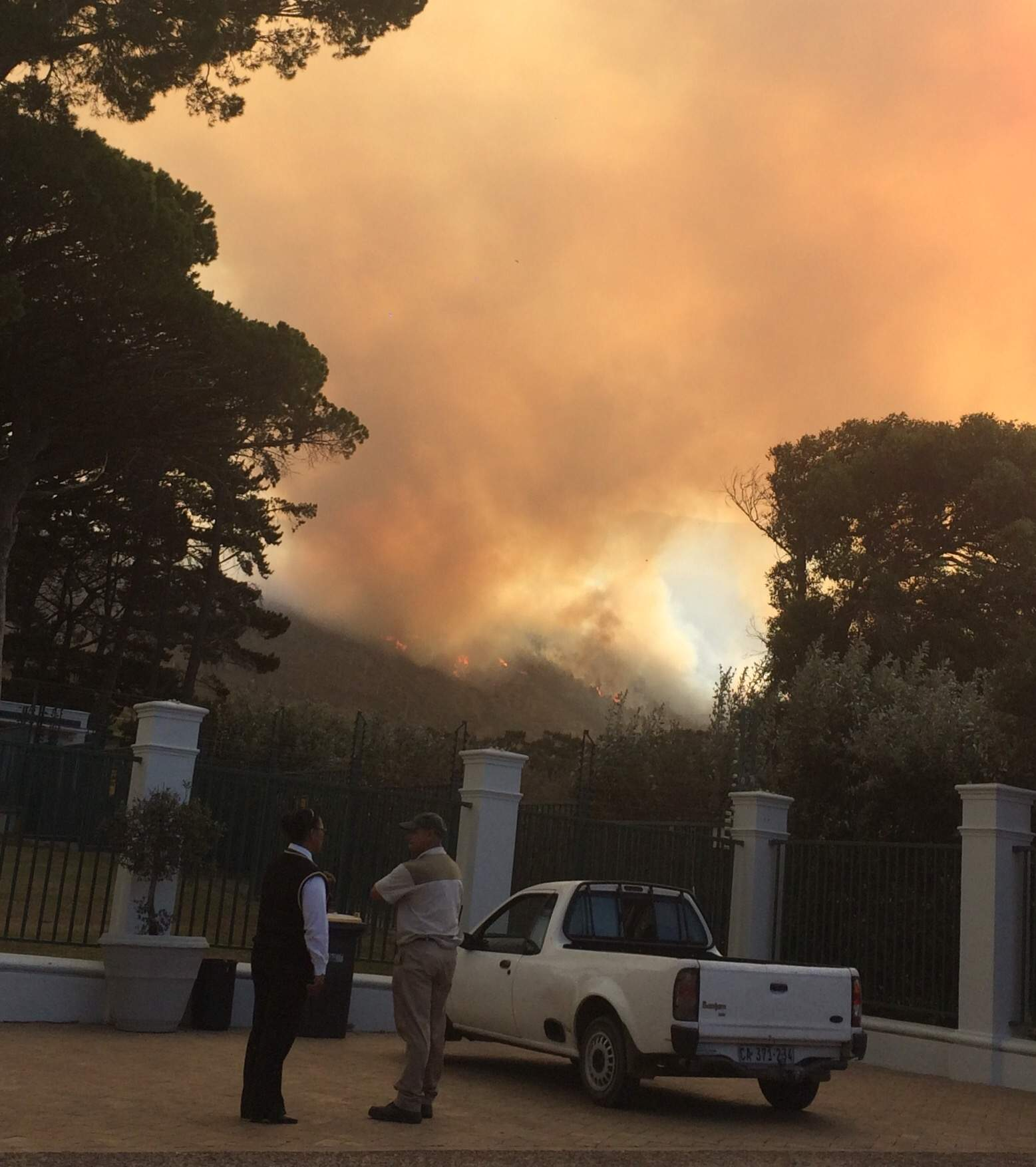 wine farm on fire