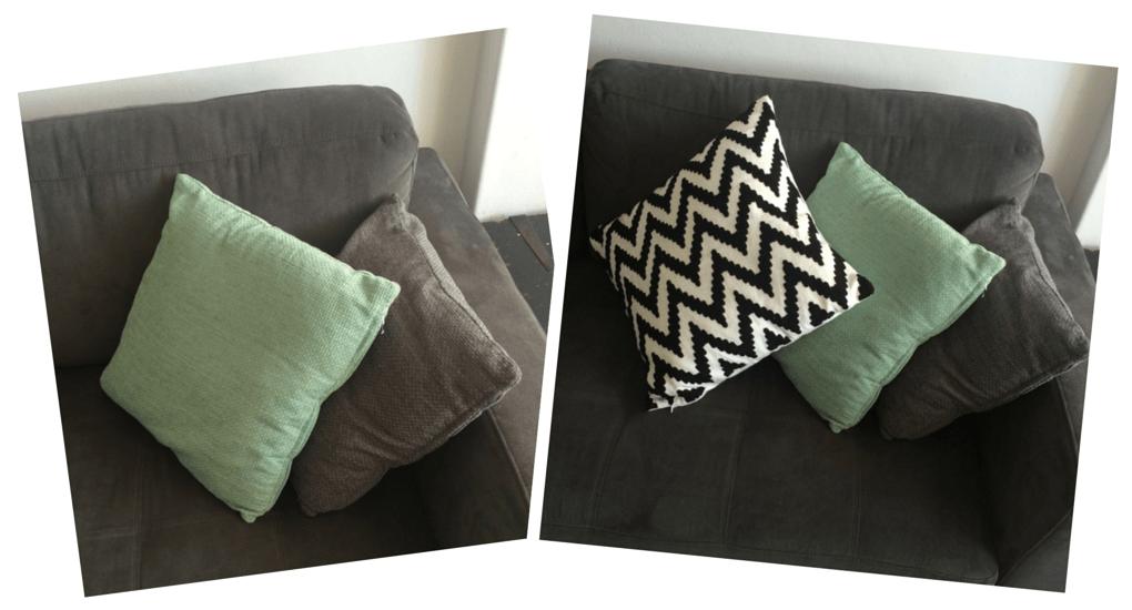 Pop of cushion colour