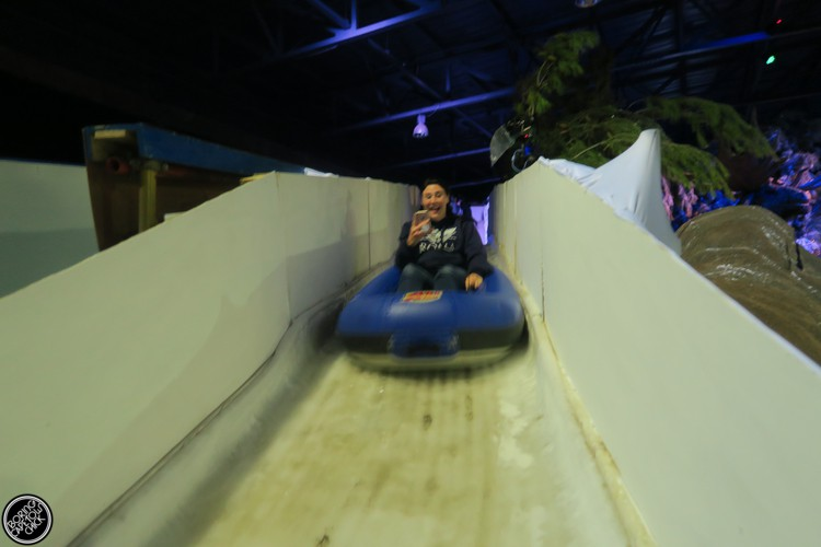 Sliding at Snow World Grand West