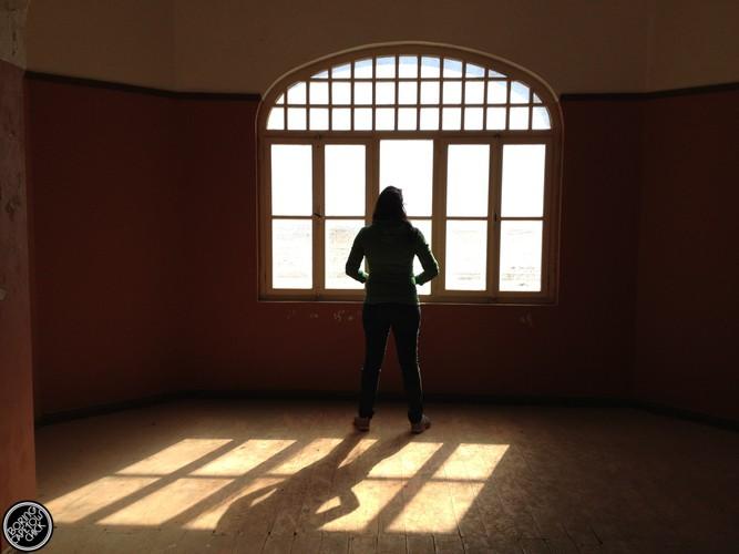 Blogger in Kolmanskop