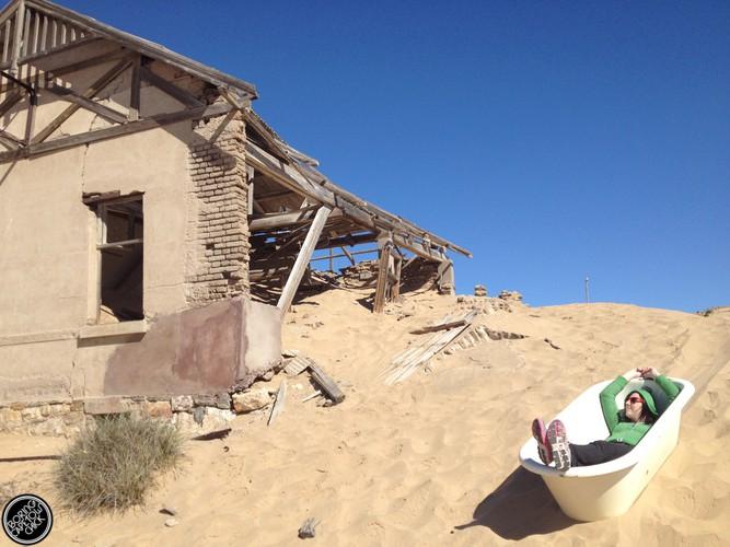 Bathing in Kolmanskop