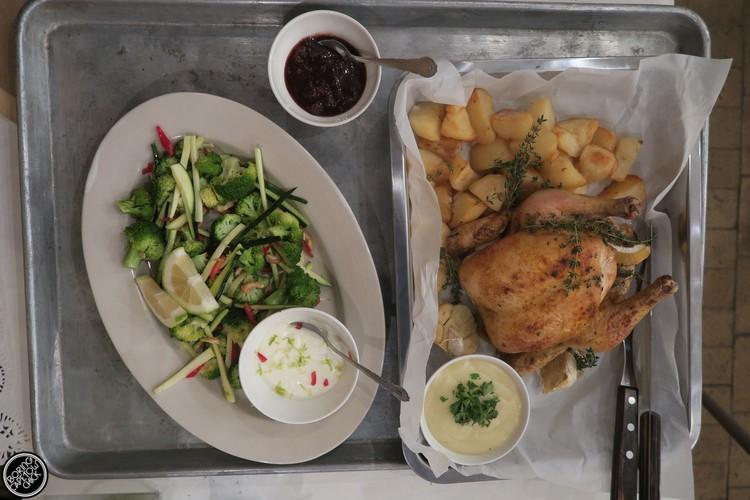 Roast Chicken at the Larder
