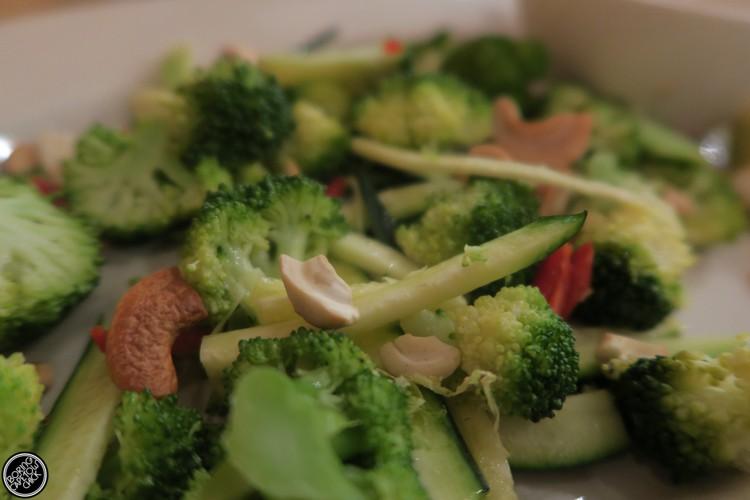 Broccoli salad at the Larder