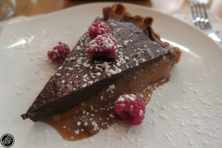 The Larder Chocolate and salted caramel tart