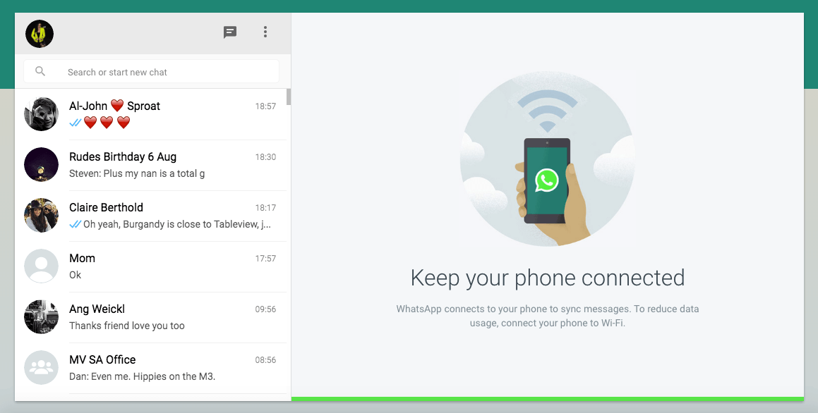 Whatsapp on Desktop