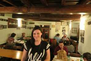 Eating Pizza at Family Run Pizzeria da Baffetto in Rome